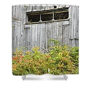 Side Of Barn In Fall Shower Curtain