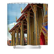 Side Of Royal Temple At Grand Palace Of Thailand In Bangkok Shower Curtain