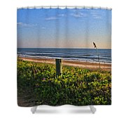 Side Of The Road In Flagler Shower Curtain