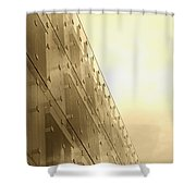 Side View Modern Glass Building In Baltimore Shower Curtain