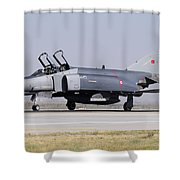 Side View Of A Turkish Air Force Shower Curtain