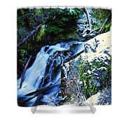 Side View Of Bumping Creek Falls Shower Curtain