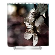 Side View Of White Flowers Shower Curtain