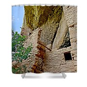 Side Window In Spruce Tree House On Chapin Mesa In Mesa Verde National Park-colorado  Shower Curtain