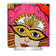 Carnival Mask Palm Springs Shower Curtain