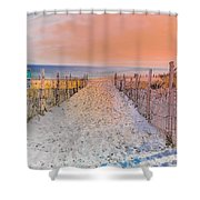 Sideside Heights Sunset Shower Curtain