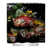 Sidewalk Flower Shop Shower Curtain