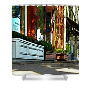Sidewalk In Saint Helena Shower Curtain