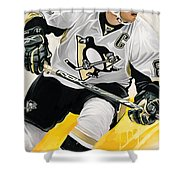 Sidney Crosby Artwork Shower Curtain