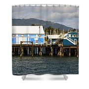 Sidney Harbour Wharf Shower Curtain