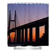 Sidney Lanier Bridge At Sunset Shower Curtain