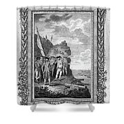 Siege Of Gibraltar, 1782 Shower Curtain