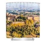 Siena Countryside Shower Curtain
