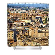 Siena Rooftops Shower Curtain