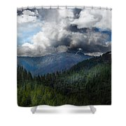 Sierra Nevada Lighting Strike Shower Curtain