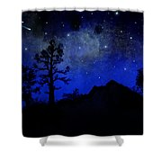 Sierra Silhouette Wall Mural Shower Curtain