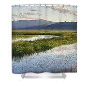 Sierra Valley Wetlands Shower Curtain