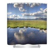 Sierra Valley Wetlands II Shower Curtain