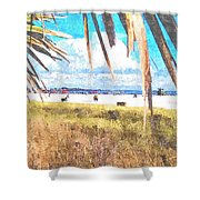 Siesta Key In Fall Shower Curtain