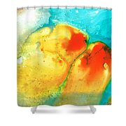 Siesta Sunrise Shower Curtain by Sharon Cummings