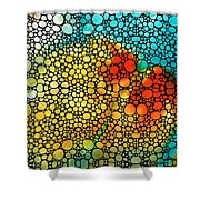 Siesta Sunrise - Stone Rock'd Art Painting Shower Curtain