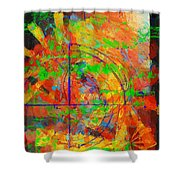 Sight Lines Shower Curtain
