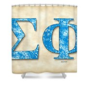 Sigma Phi Society - Parchment Shower Curtain