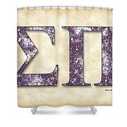 Sigma Pi - Parchment Shower Curtain