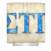 Sigma Tau Gamma - Parchment Shower Curtain