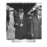 Sigmund Freud Exiled Shower Curtain