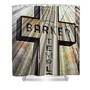 Sign - Barker Temple - Kcmo Shower Curtain