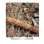 Sign In The Wood II Shower Curtain