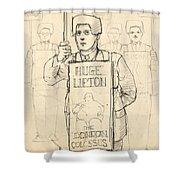 Sign Men Shower Curtain