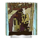Sign Of The Jackalope Shower Curtain