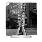 Sign Post In Crossville Tennessee 1939 Shower Curtain