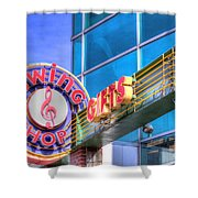 Sign - Swing Shop - Jazz District Shower Curtain