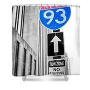 Interstate 93 Shower Curtain