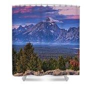 Signal Mountain Sunrise Shower Curtain