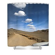 Signals ... Along The Bristlecone Pine Highway, White Mountains, California.  Shower Curtain