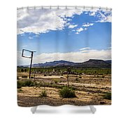 Signpost Shower Curtain