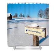 Signpost Shower Curtain