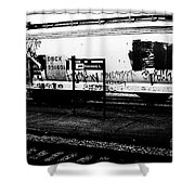 Signs Monochrome Shower Curtain