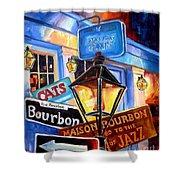 Signs Of Bourbon Street Shower Curtain