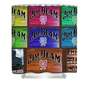 Signs Of Jim Beam Shower Curtain