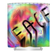 Signs Of Peace  Shower Curtain