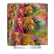 Signs Of Peace X Shower Curtain