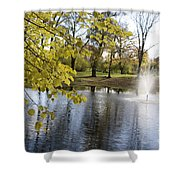 Sigulda Pond Shower Curtain