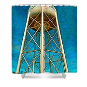 Sikeston Water Tower Iv Shower Curtain