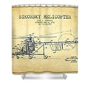 Sikorsky Helicopter Patent Drawing From 1943-vintgae Shower Curtain