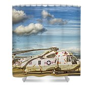 Sikorsky Sh-60b Seahawk Helicopter Shower Curtain